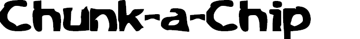 Preview image for Chunk-a-Chip Font