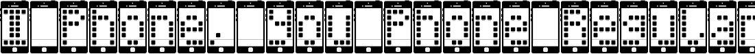 Preview image for I Phone, You Phone Regular Font