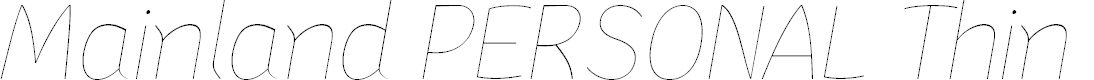 Preview image for Mainland PERSONAL Thin Italic
