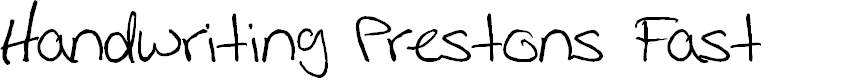 Preview image for Handwriting Prestons Fast Font