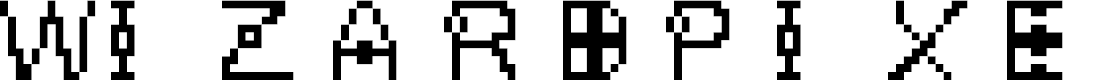 Preview image for WizardPixel Font
