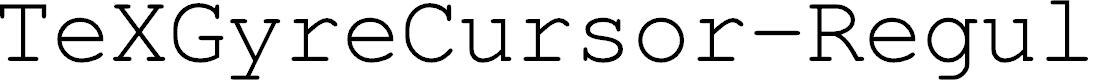 Preview image for TeXGyreCursor-Regular Font