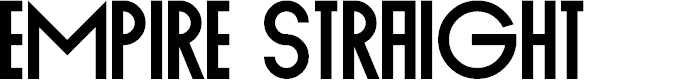 Preview image for Empire Straight Font
