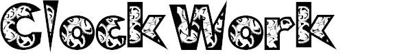 Preview image for ClockWork Font