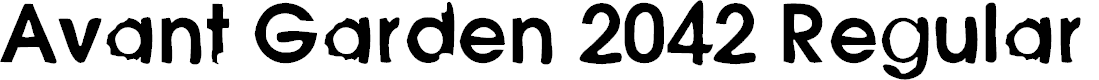 Preview image for Avant Garden 2042 Regular Font