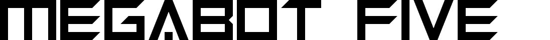 Preview image for Megabot Five Font