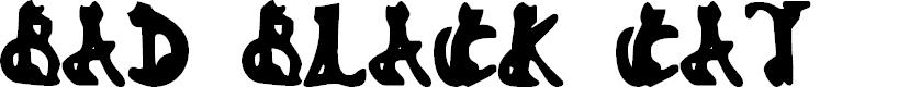Preview image for Bad Black Cat Font