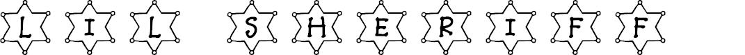 Preview image for JLR Li'l Sheriff Font