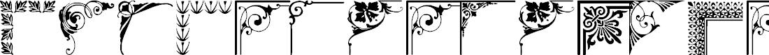 Preview image for Vintage Decorative Corner_43 Font