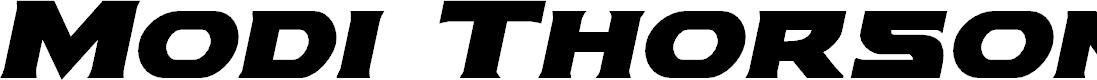 Preview image for Modi Thorson Bold Italic