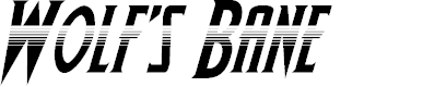 Preview image for Wolf's Bane Halftone Italic
