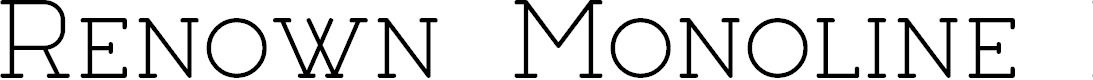 Preview image for Renown Monoline Demo Font