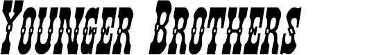 Preview image for Younger Brothers Bold Italic