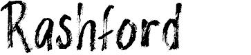 Preview image for Rashford Font