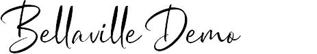 Preview image for Bellaville Demo Regular Font