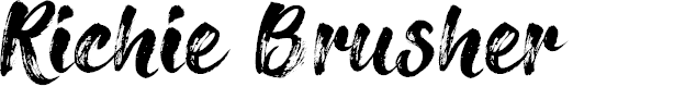 Preview image for Richie Brusher Font