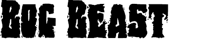 Preview image for Bog Beast Regular Font