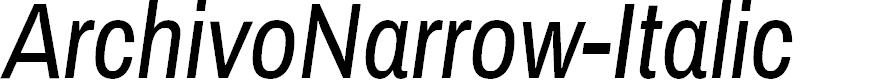Preview image for ArchivoNarrow-Italic
