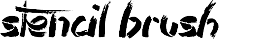 Preview image for Stencil Brush Font