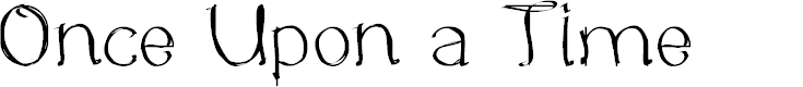 Preview image for Once Upon a Time Font