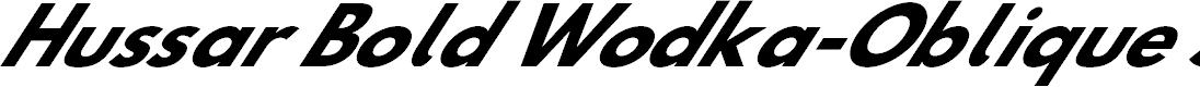 Preview image for Hussar Bold Wodka-Oblique Seven