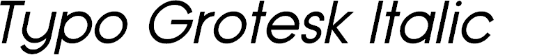 Preview image for Typo Grotesk Italic