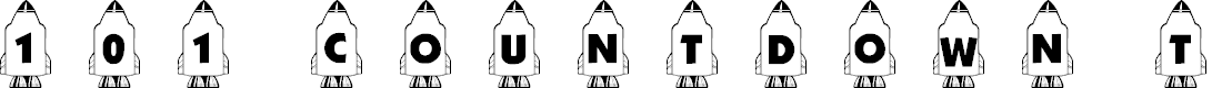 Preview image for 101! Countdown ta Blast Off! Font
