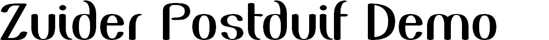 Preview image for Zuider Postduif Demo Font
