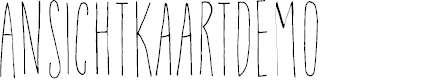 Preview image for AnsichtkaartDEMO Font