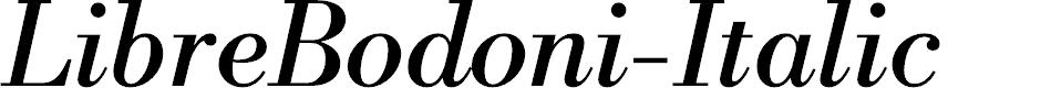 Preview image for LibreBodoni-Italic