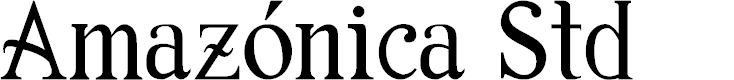 Preview image for Amazónica Std Font