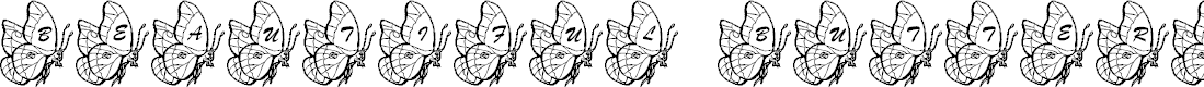 Preview image for LMS Beautiful Butterfly Font
