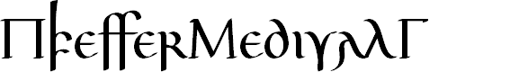 Preview image for PfefferMedivalG Font