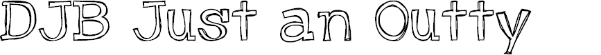 Preview image for DJB Just an Outty Font