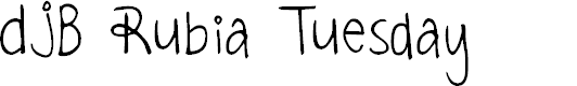 Preview image for DJB Rubia Tuesday Font