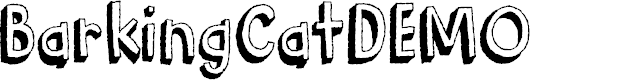 Preview image for BarkingCatDEMO Font