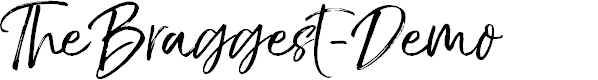 Preview image for TheBraggest-Demo Font