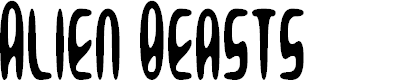 Preview image for Alien Beasts Font