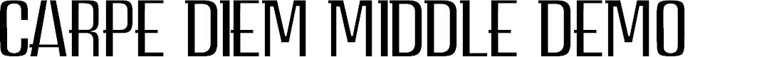Preview image for CARPE DIEM MIDDLE demo Font