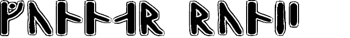 Preview image for Gunnar Runic Font