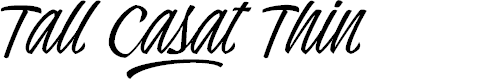 Preview image for Tall Casat Thin PERSONAL USE Font