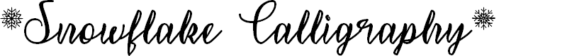 Preview image for Snowflake Calligraphy Font