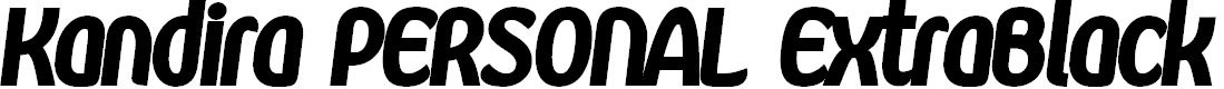 Preview image for Kandira PERSONAL ExtraBlack Italic