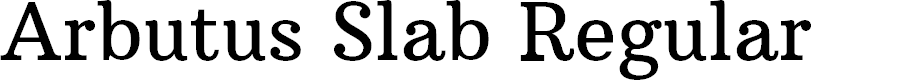 Preview image for Arbutus Slab Regular Font