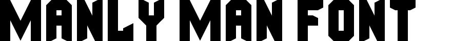 Preview image for Manly Man Font Regular Font