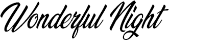 Preview image for Wonderful Night Personal Use Regular Font