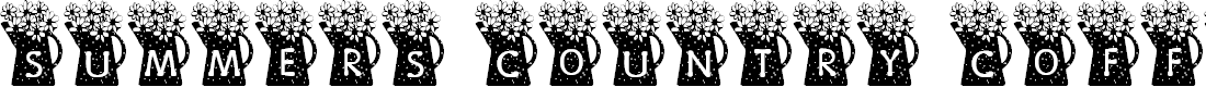 Preview image for Summer's Country Coffee Pots Font