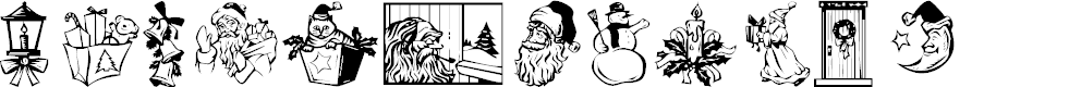 Preview image for KR Christmas Dings 2004 Three Font
