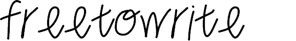 Preview image for freetowrite Font