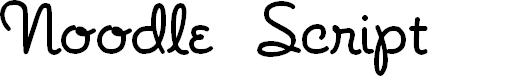 Preview image for NoodleScript Font